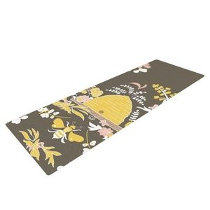 Kess Inhouse Yoga Mat Beehive Floral NWT